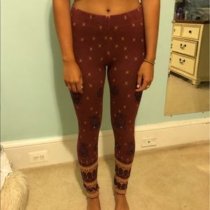 Pants - Free People Patterned Leggings!
